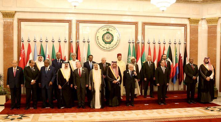 Die Teilnehmer des Gipfeltreffens in Mekka