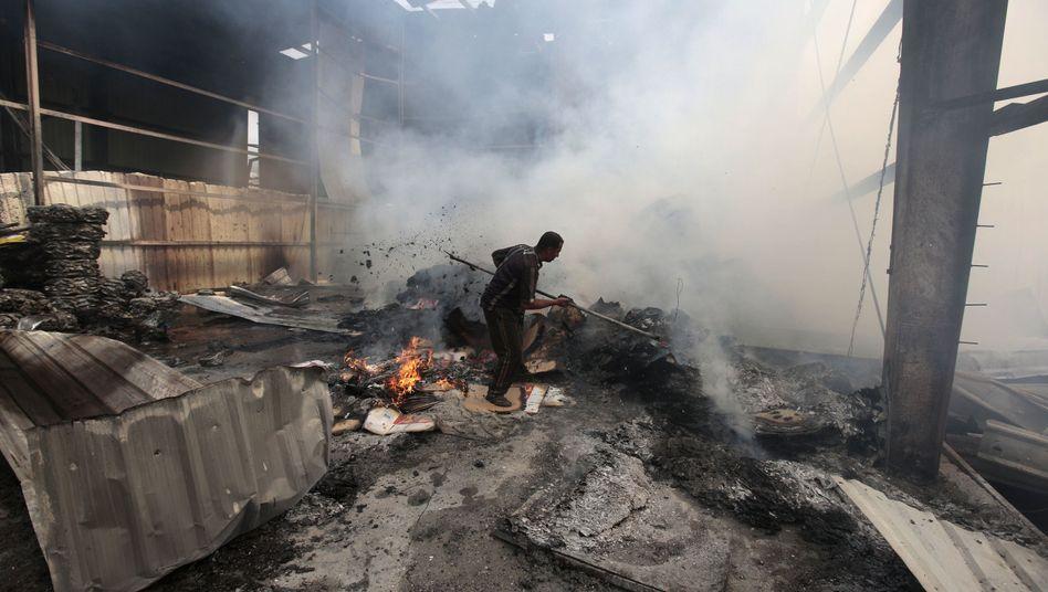 Zerstörung in Jemen