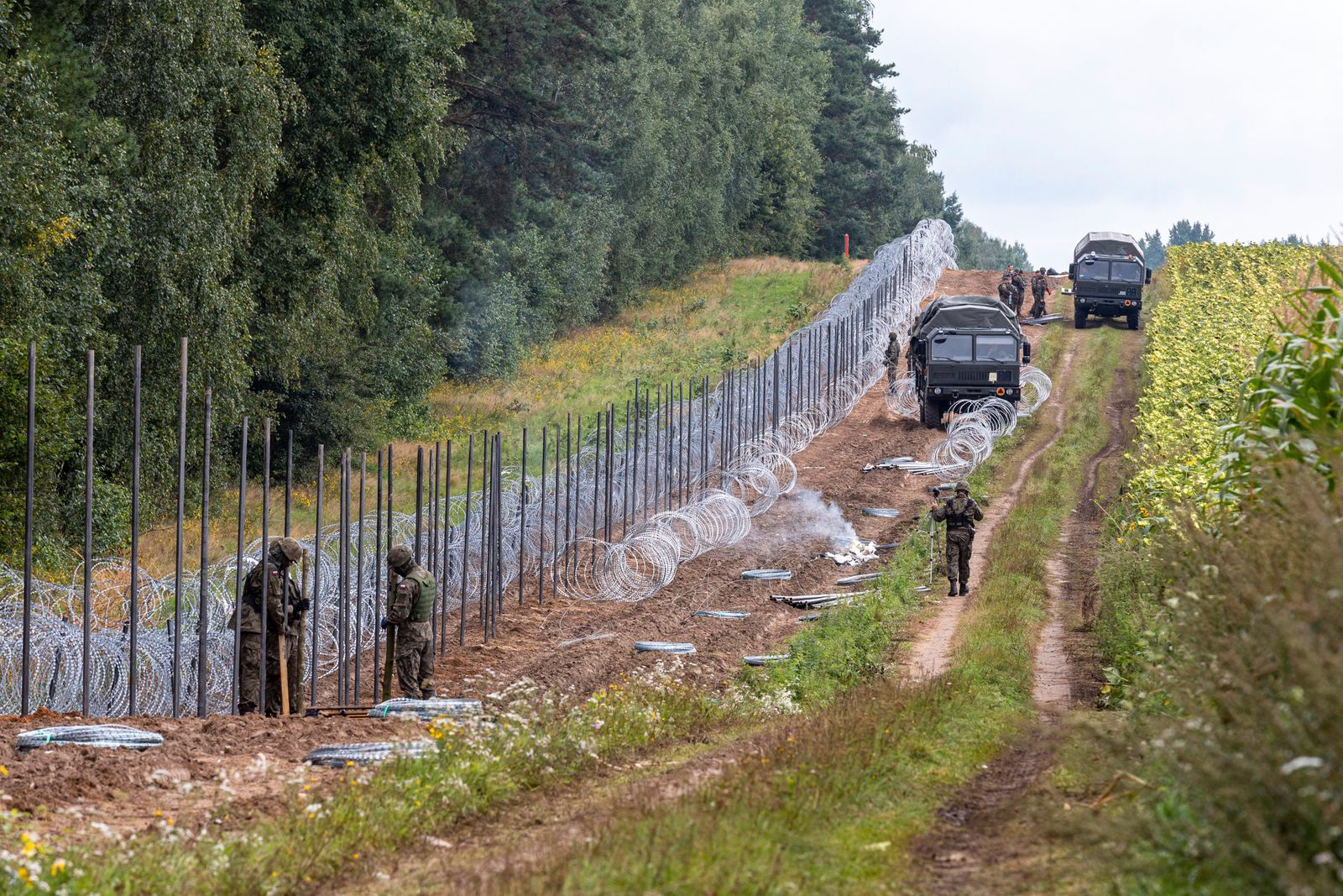 Poland Erects A Border Between Belarus And The EU