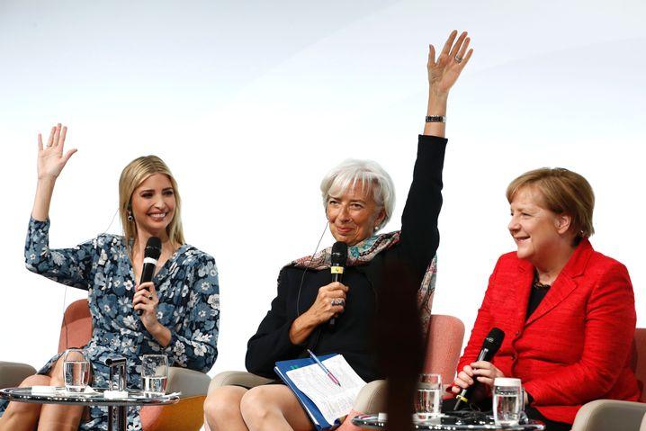 Ivanka Trump, Christine Lagarde und Angela Merkel beim Frauengipfel in Berlin