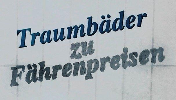 Auf einem Werbeplakat in Erlenbach