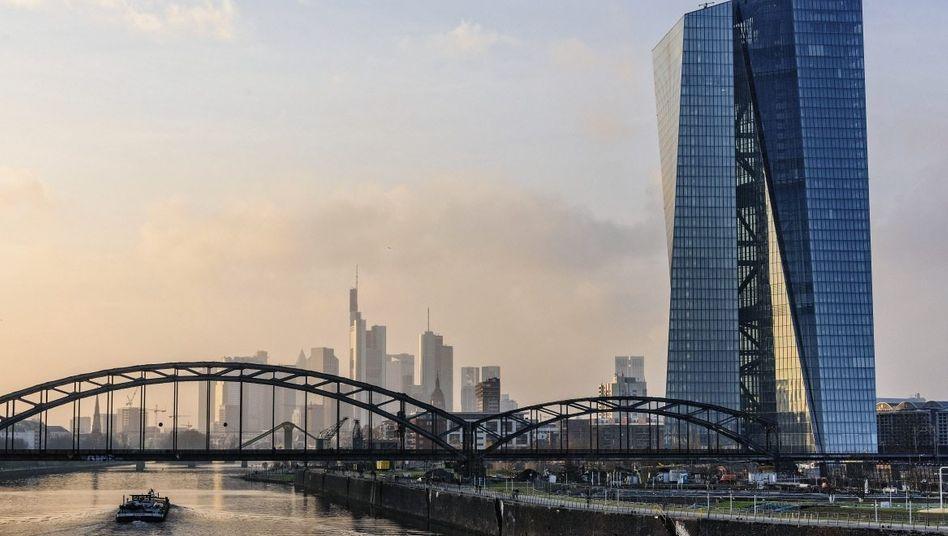 Zukünftige EZB-Zentrale in Frankfurt am Main