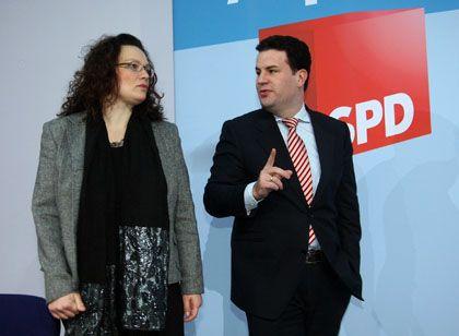 Parteivize Nahles, Generalsekretär Heil: Rückendeckung fürs SPD-Steuerkonzept