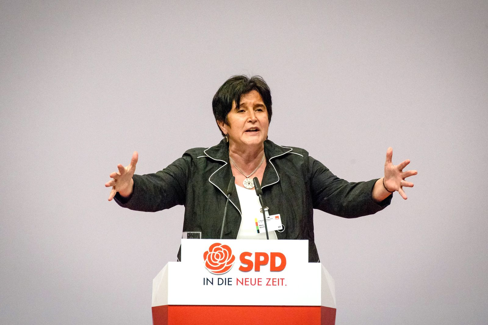SPD Bundesparteitag in Berlin Deutschland, Berlin - 08.12.2019: Im Bild ist Maria Noichl (spd) zu sehen. Berlin Berlin