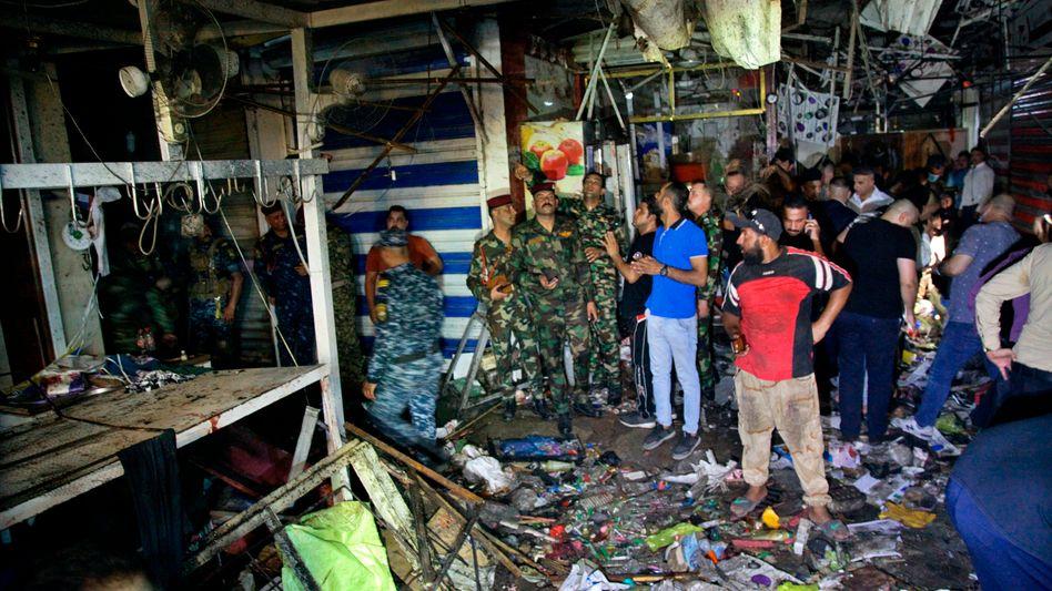 Bombenanschlag auf einem Markt in Bagdad