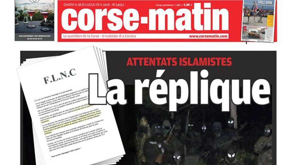 Korsikas Separatisten: Warnung aus dem Untergrund