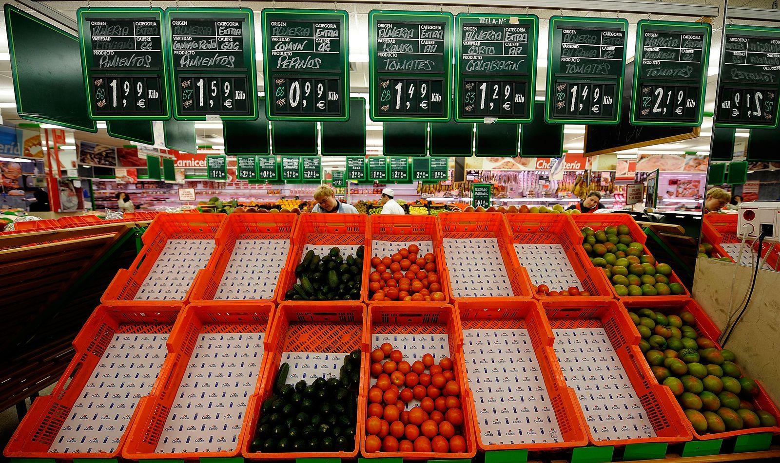 Spanien / Supermarkt / Obst / Gemüse