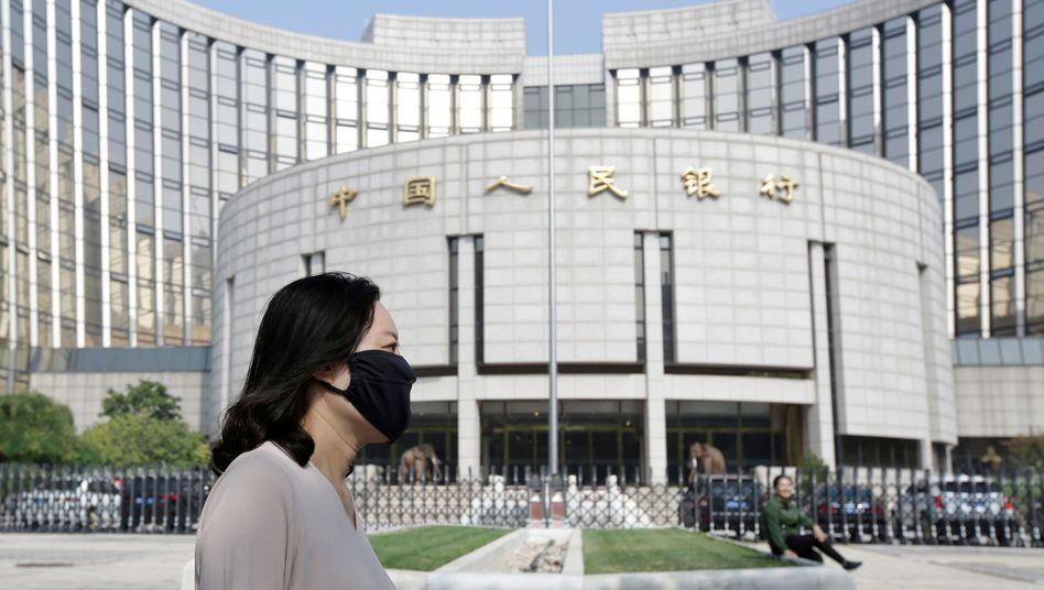 Hauptquartier der chinesischen Zentralbank in Peking