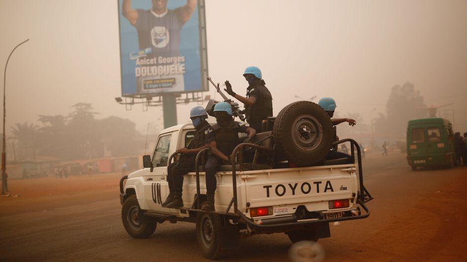Uno-Soldaten aus Ruanda in Bangui (Archivbild von Februar 2016)