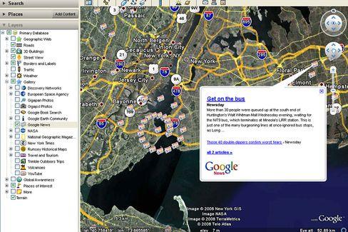 Google News (Mash-Up mit Google Earth): Ausbau zum vollwertigen Nachrichtenangebot?
