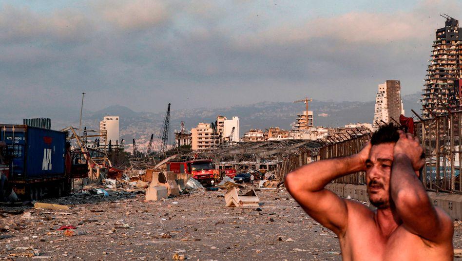 Beiruts Hafen nach der Explosion