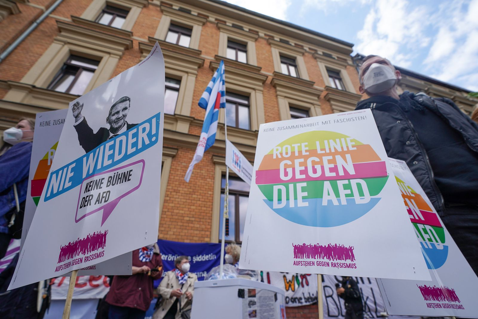 Demonstration vom Bündnis #unteilbar Sachsen-Anhalt
