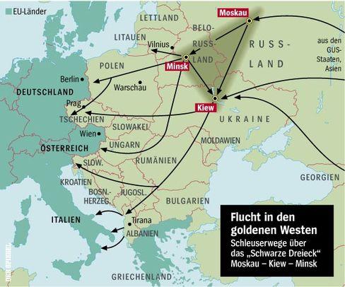 """Der BND skizzierte die Route vom """"schwarzen Dreieck"""""""