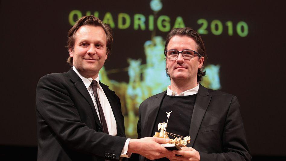 Künstler Olafur Eliasson (r.) mit Daniel Birnbaum (2010): Quadriga, nein danke!
