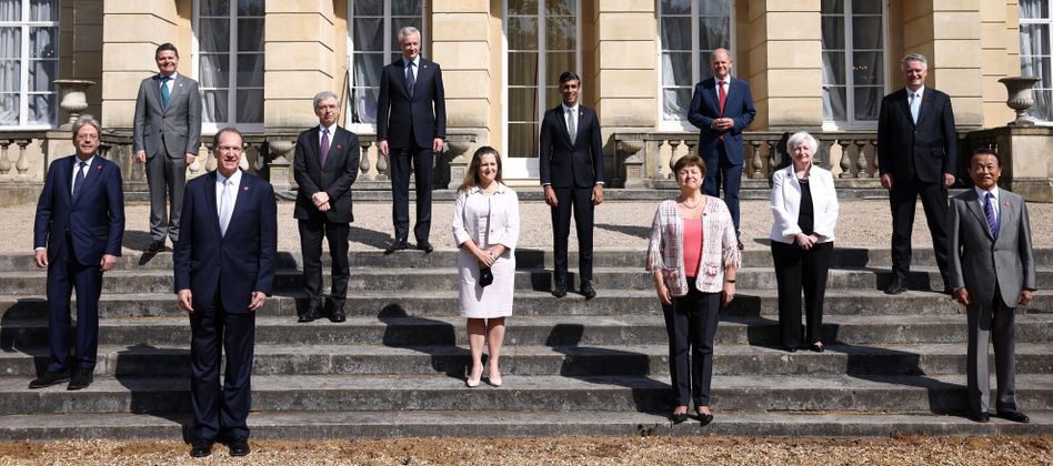 Finanzministerinnen und Finanzminister in London: Differenzen ausgeräumt