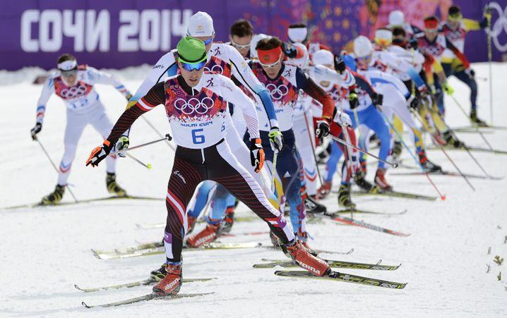 Dürr beim 15-Kilometer-Skiathlon in Sotschi 2014