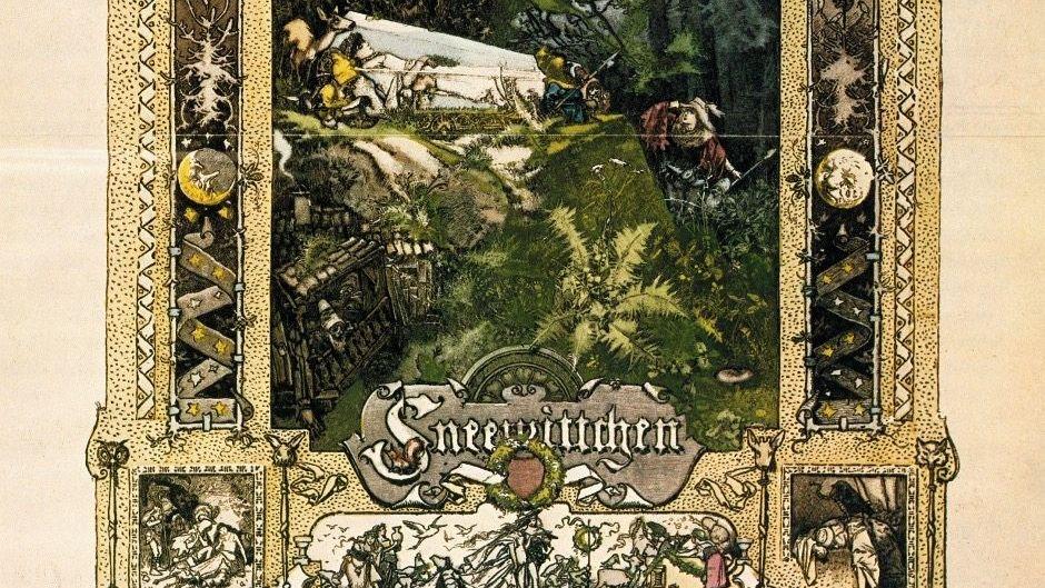 Märchenwelten Figuren wie Schneewittchen (Holzstich 1890) wurden rasch populär.