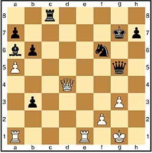 Zug 32, weiß: a5 Kramnik will seinen Turm durch Öffnung der a-Linie ins Spiel bringen. 32.Te7+ Kg6 bietet keine Gefahr für den schwarzen König.