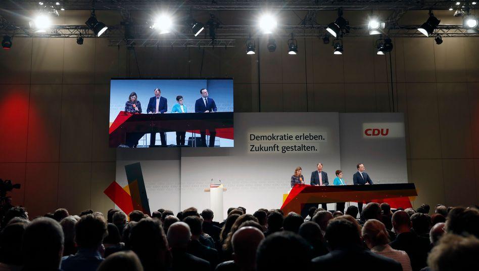Kandidaten-Schau bei der CDU-Regionalkonferenz in Berlin
