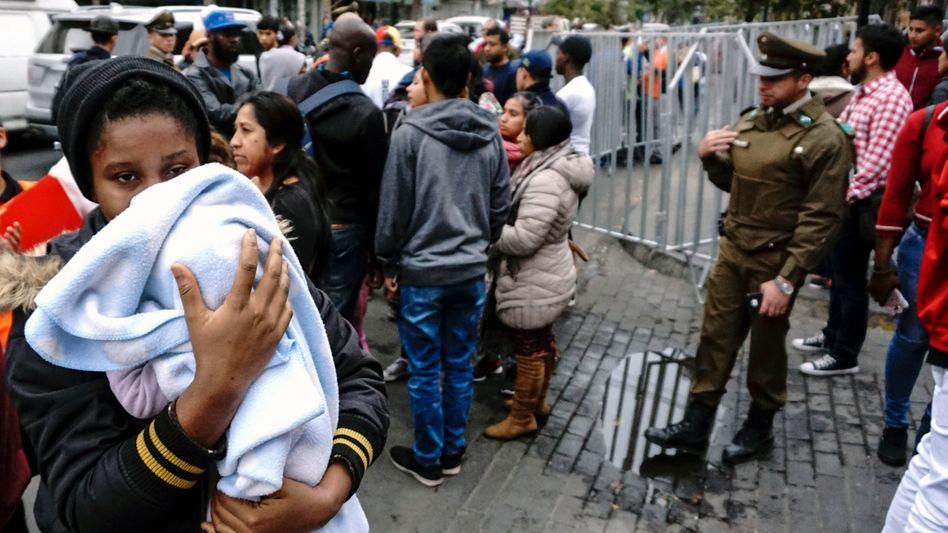 Immigranten in Santiago de Chile