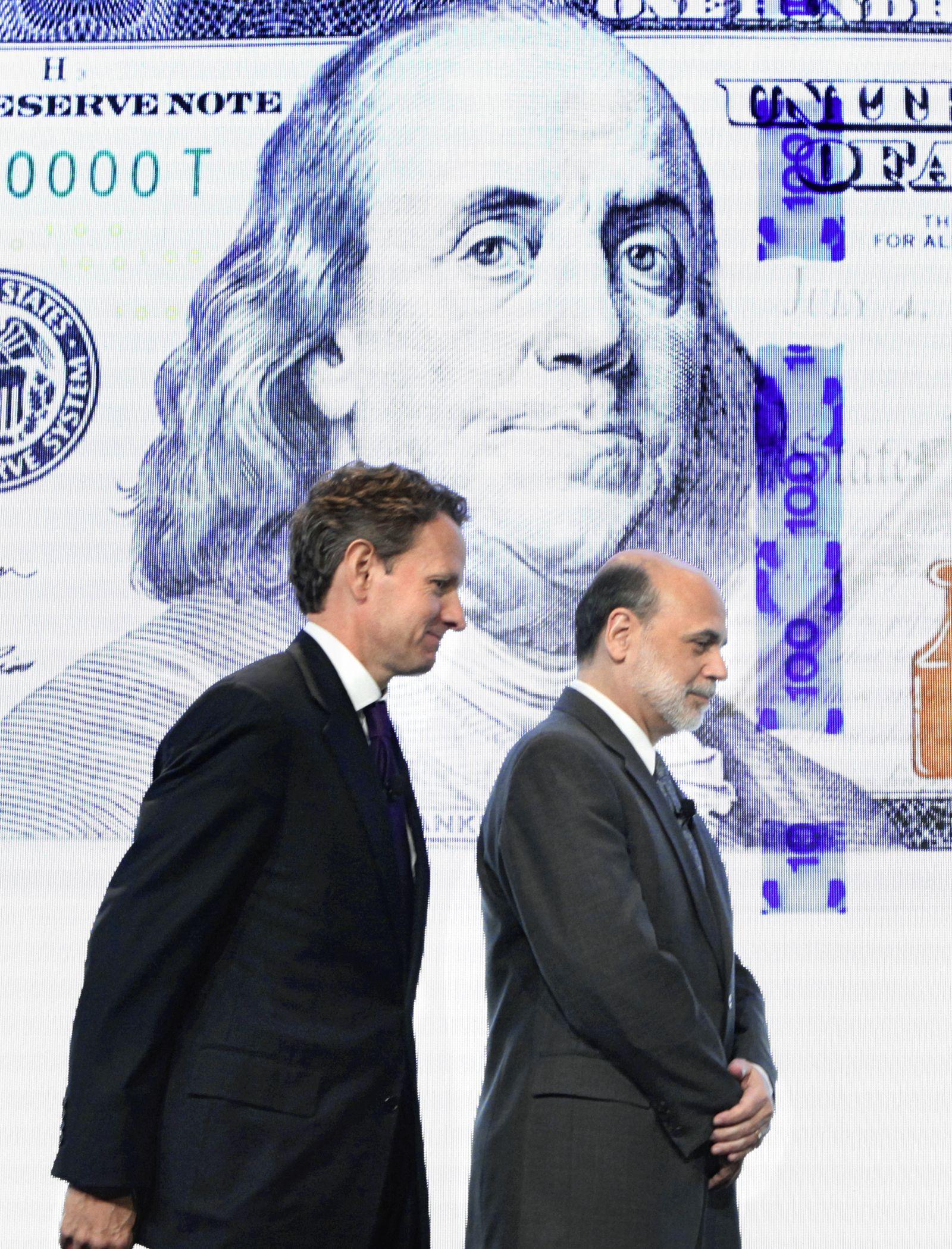 Dollar-Verteidiger Geithner, Bernanke