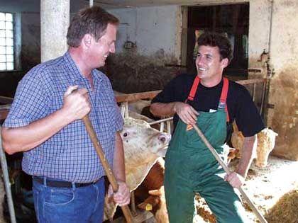 Als Bauer: Volksnähe mit Mistgabel