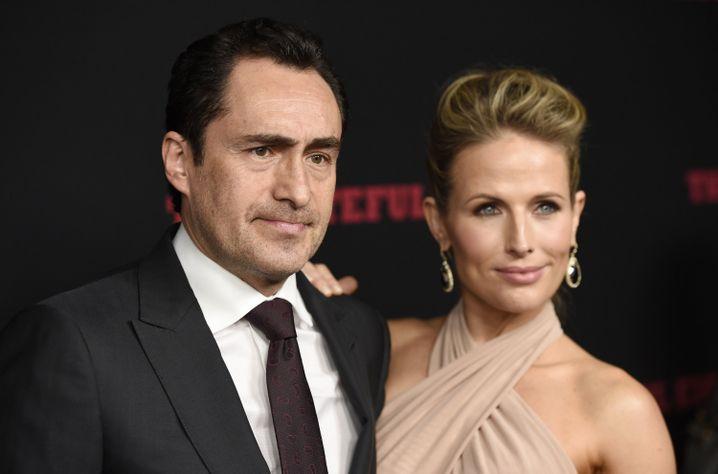 Stefanie Sherk an der Seite ihres Mannes Demian Bichir im Dezember 2015