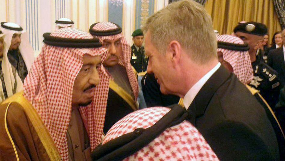 Christian Wulff spricht mit König Salman: Der Ex-Präsident vertrat Deutschland bei den Trauerfeierlichkeiten