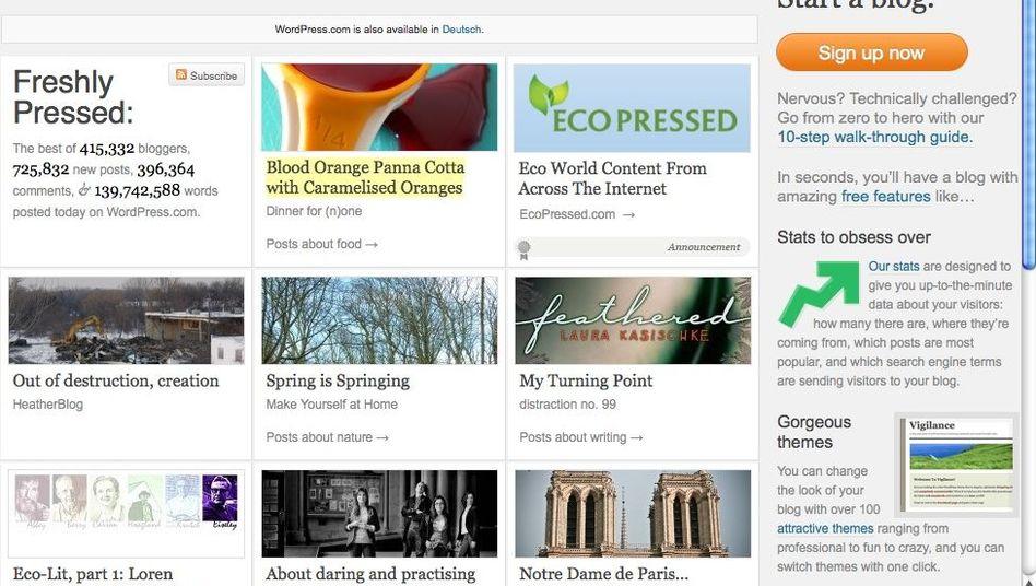 Bloganbieter Wordpress.com: Mehr Content-Management-System als Tagebuch-Software