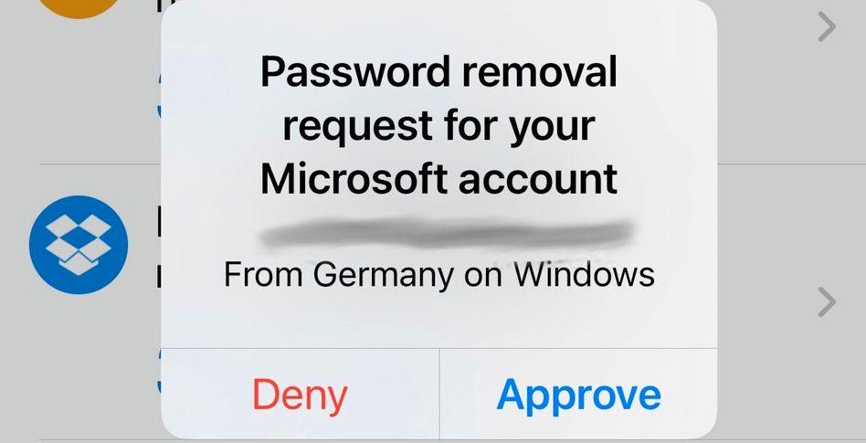 Hinweis in Authenticator-App: So wird man sein Passwort los