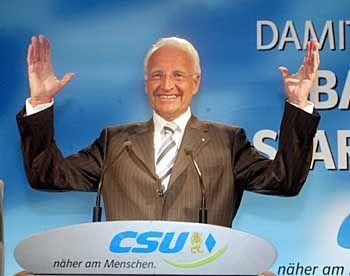Ministerpräsident Stoiber: Klarer Sieger der Umfrage