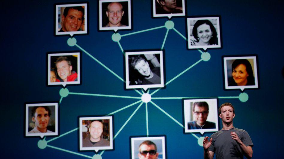 Facebook-Chef: Mark Zuckerberg erklärt Ende September 2011, wie er die Welt vernetzt