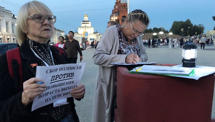 Russen über die Rentenreform: Wladimir gegen Wladimir