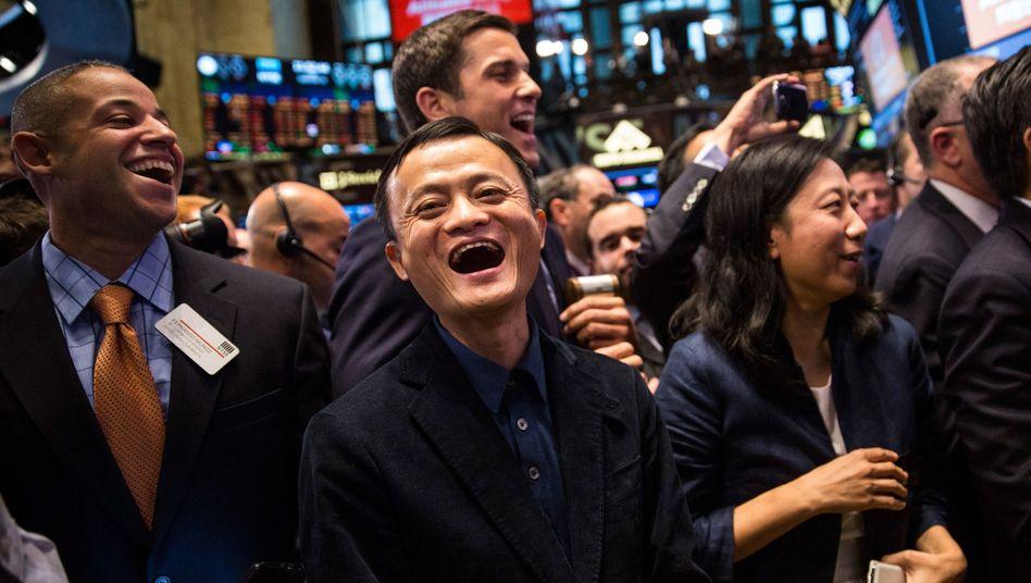 Alibaba-Gründer Ma (beim Börsengang in New York): Weltweite Expansion