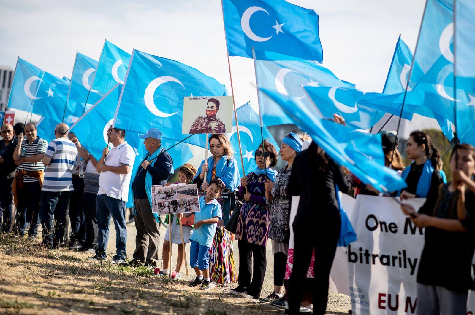 Uiguren/ Demonstration