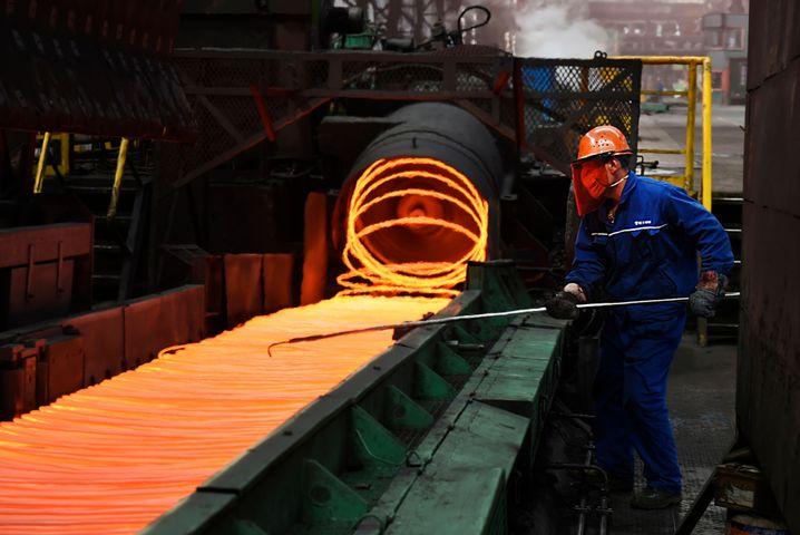Chinesisches Stahlwerk in Zouping