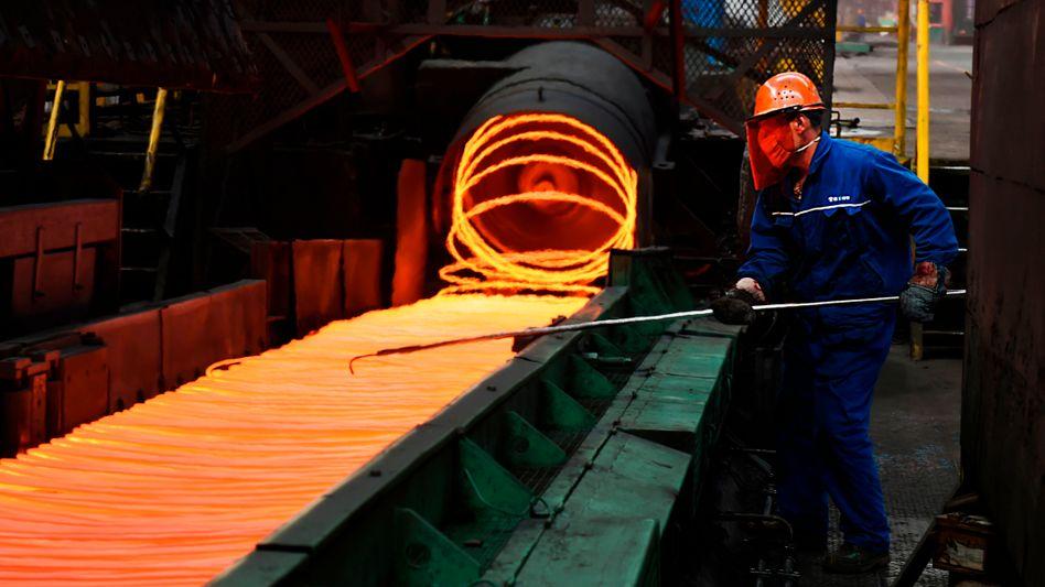 Stahlproduktion in chinesischer Provinz Shandong