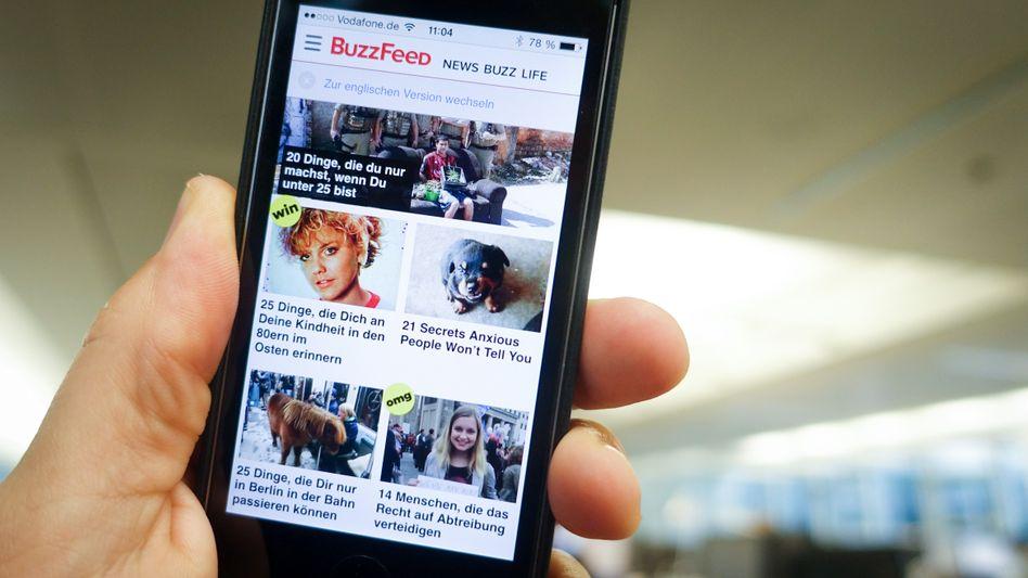 BuzzFeed-Homepage auf einem Smartphone (Archiv)
