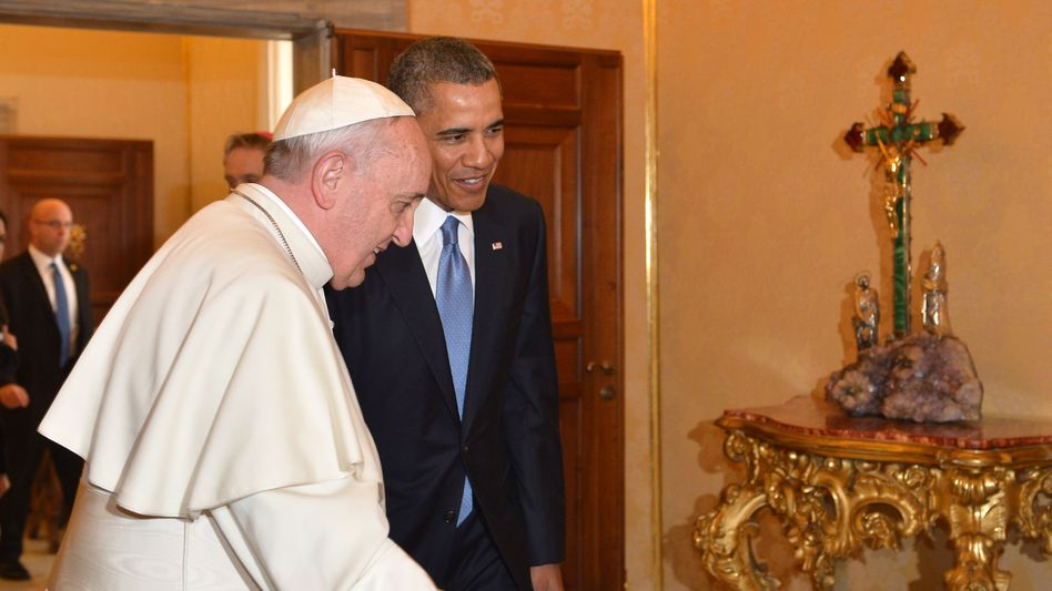 Franziskus mit US-Präsident Obama: Staatschef würdigt Papst als Mahner für soziale Gerechtigkeit