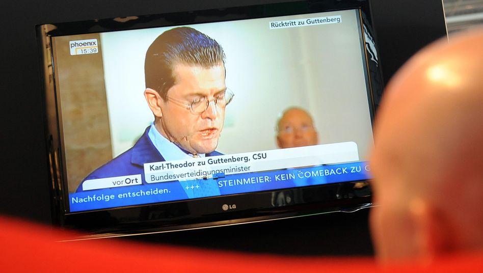 German Defense Minister Karl-Theodor zu Guttenberg resigned over a plagiarism scandal on Tuesday.