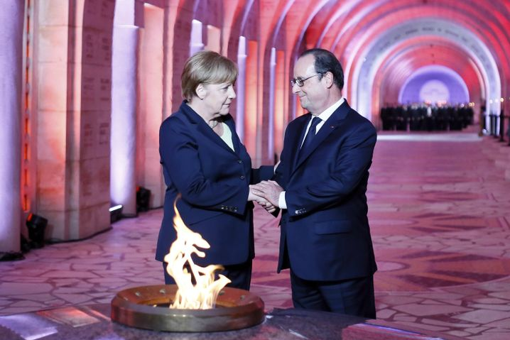 Angela Merkel, François Hollande