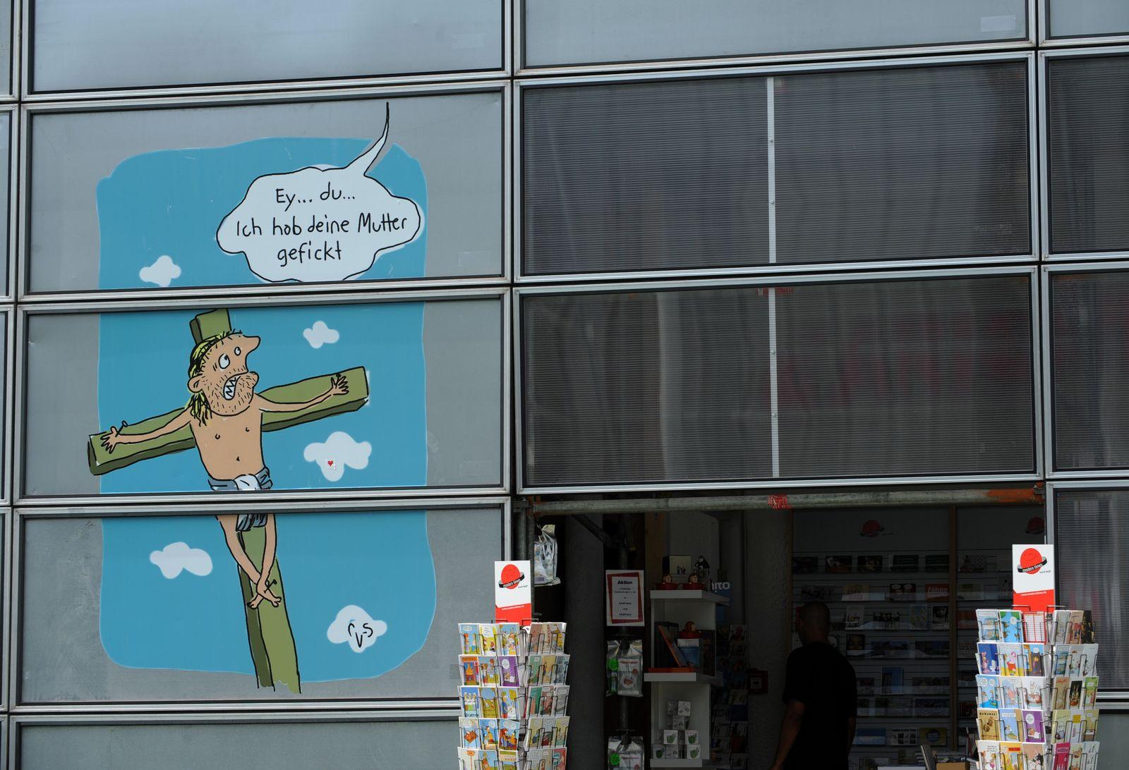 Kirchenprotest/ Karikatur/ Caricatura