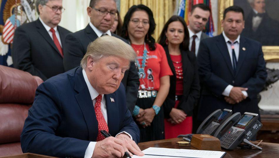"""Donald Trump (Archivbild): """"Meinungsverschiedenheiten freundschaftlich regeln"""""""