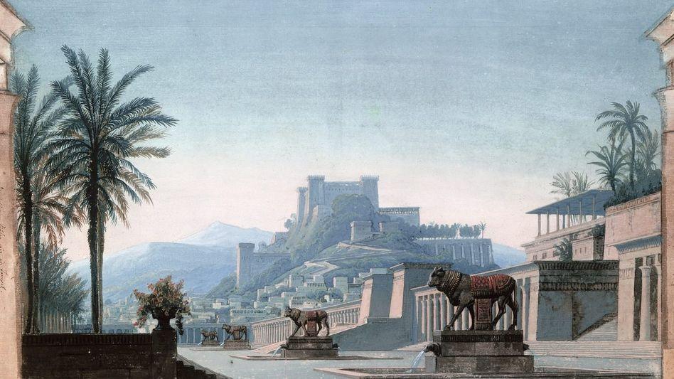 »Ansicht von Jerusalem und der Burg Zion« Gouache von Karl Friedrich Schinkel, 1817