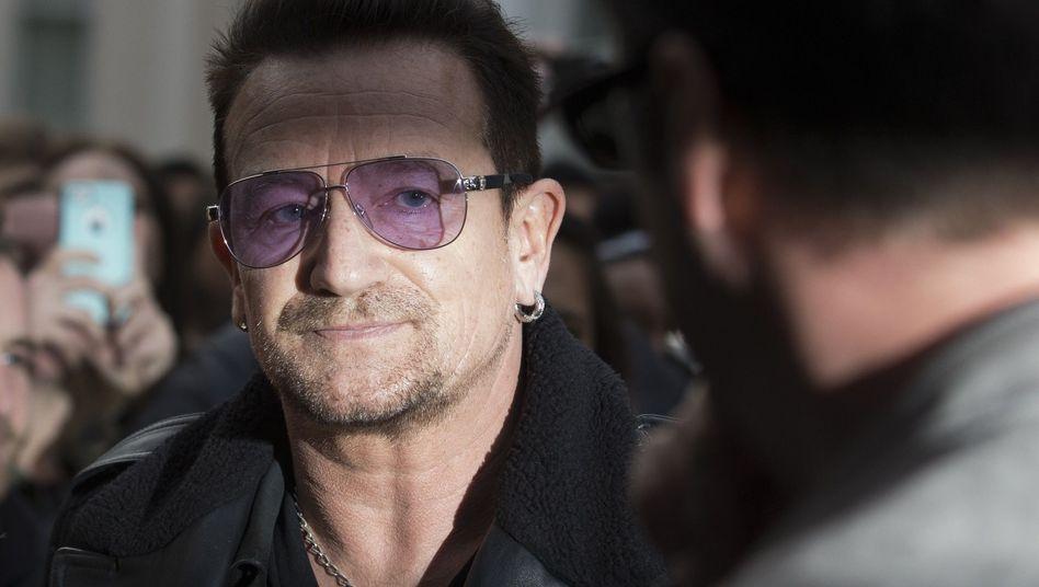 U2-Sänger Bono (Archivbild): Operation nach Fahrradunfall