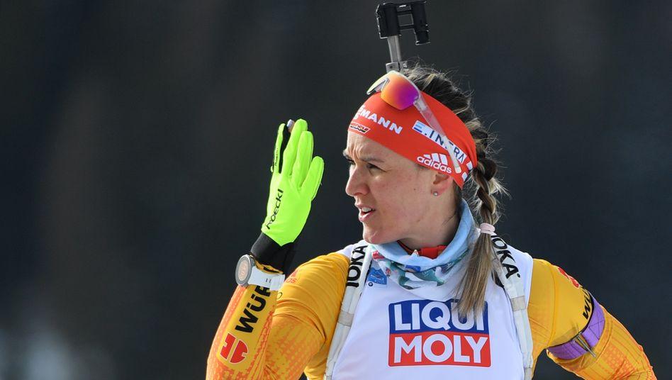 Denise Herrmann in Antholz
