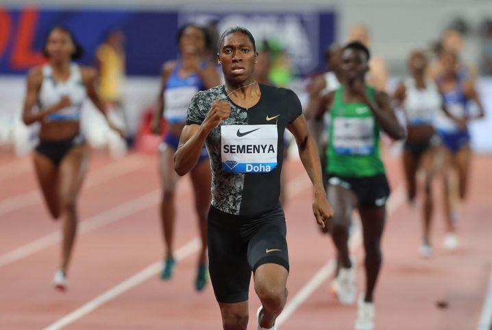 Caster Semenya beim 800-Meter-Rennen der IAAF Diamond League 2019 in Doha