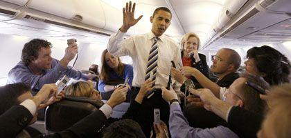 Barack Obama, Journalisten: Verfremden durch Vergrößern