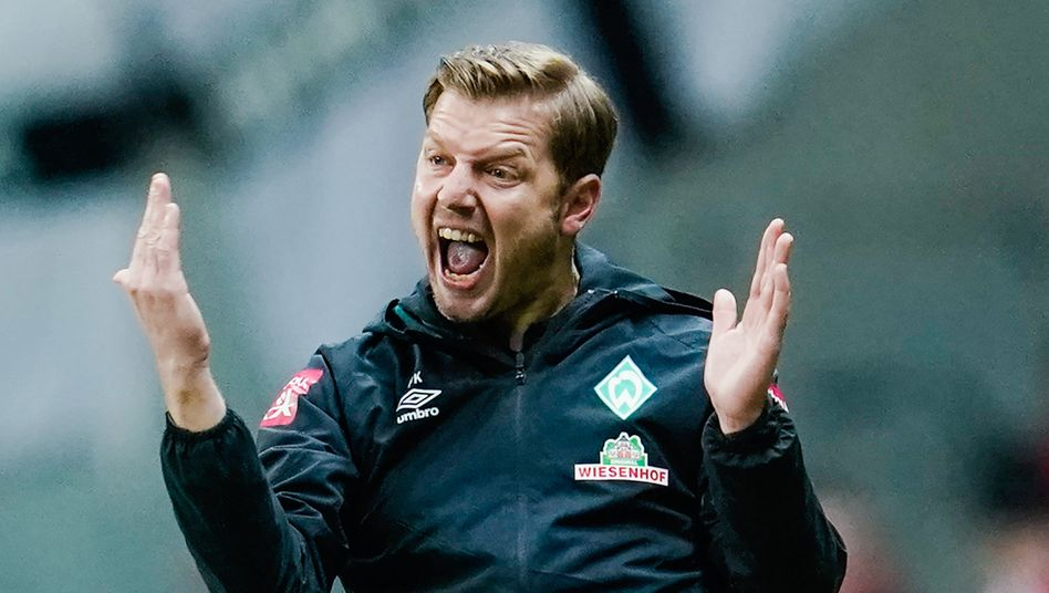 Bremen-Trainer Kohfeldt, verzweifelt