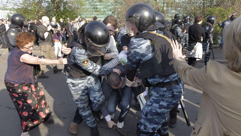 Protest gegen Putin: Polizei nimmt Hunderte Demonstranten in Moskau fest